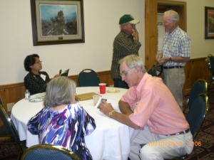 [seated]Rudy Menn, Virginia (Compton) Odom, Janie DeLeon Andy DeLeon, Weldon Laird